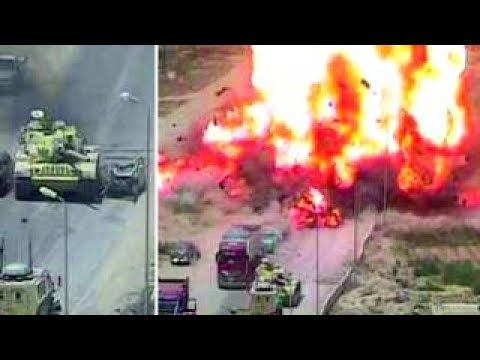 Tank Drives Over Suicide Bomber's Car Before Deadly Blast