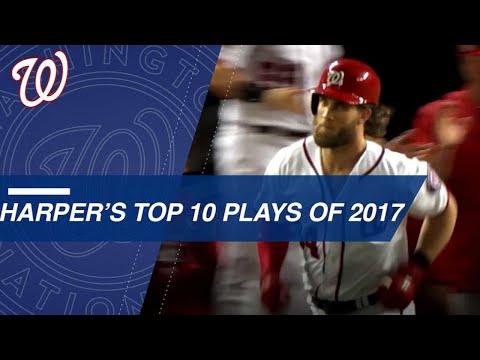 Bryce Harper's Top 10 Plays of 2017