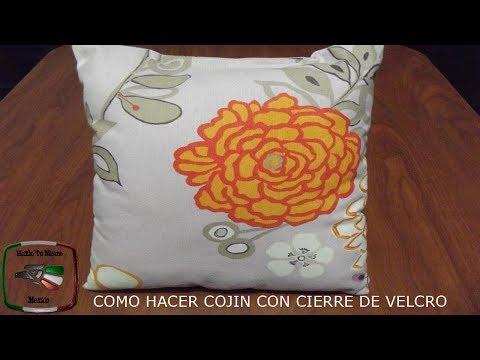 DIY: COMO HACER COJIN CON CIERRE DE VELCRO