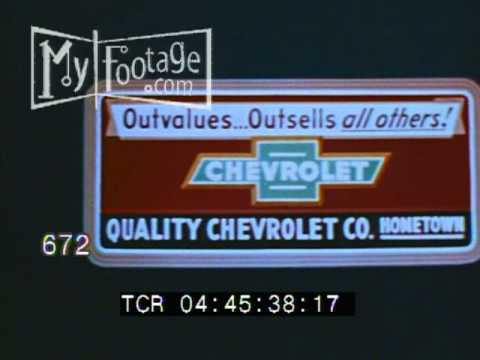 1953 Various Chevrolet Billboards