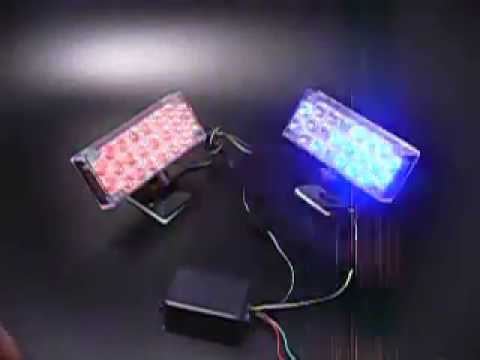 Red and Blue flashing led light for autos and Vehicles