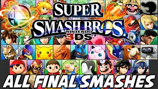 Super Smash Bros 4 [Wii U/3DS] - ALL FINAL SMASHES [51 TOTAL]