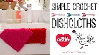 Learn To Crochet Simple Crochet Dishcloths With Scrubby Yarn