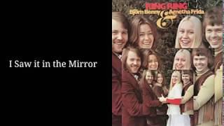 ABBA - I Saw It In The Mirror w/Lyrics