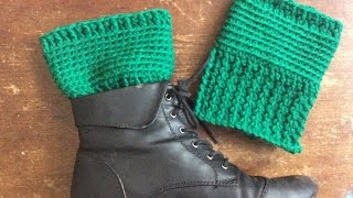 Easy Basic Crochet Boot Cuff