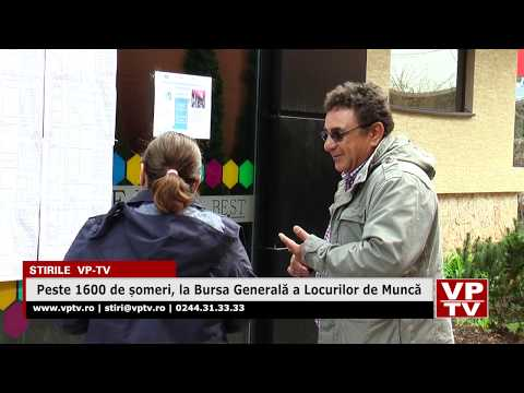 Peste 1600 de șomeri, la Bursa Generală a Locurilor de Muncă
