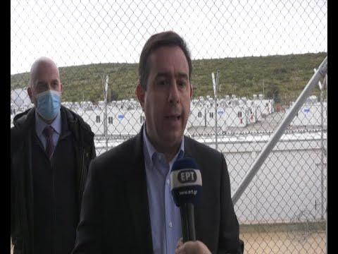 Ο Υπουργός Μετανάστευσης και Ασύλου στη Νέα Κλειστή Ελεγχόμενη Δομή στη Σάμο