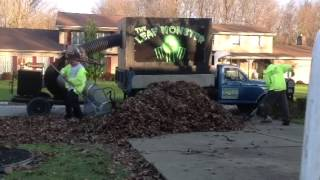 Fastest leaf pick up from start to finish.. 20'w 15' l 4.5h