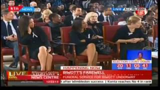 Nairobi County Speaker Ole Magelo speaks during Nicholas Biwott's funeral service