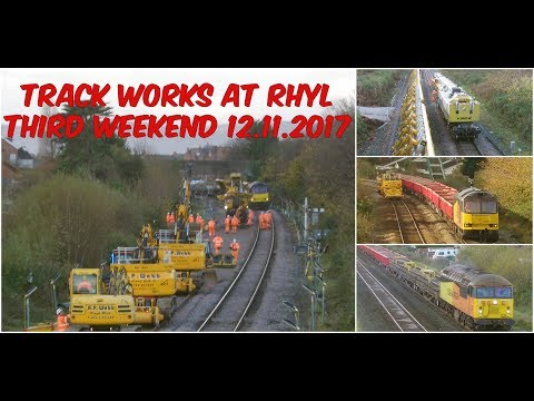 Colas Rail 56s and 60s on engineering work near Rhyl 12th No…