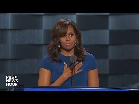 Projev Michelle Obamové na sjezdu demokratů 2016