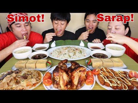Yang Chow Fried Rice,Shanghai, Pansit Canton Guisado,Baliwag Lechon Manok Plus Soup Pinoy Mukbang!
