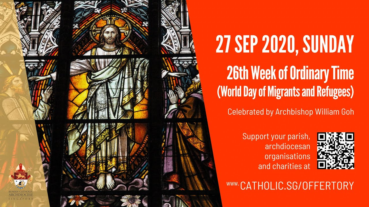 Catholic Sunday Mass 27 September 2020 Today Online, 26th Week of Ordinary Time – Livestream