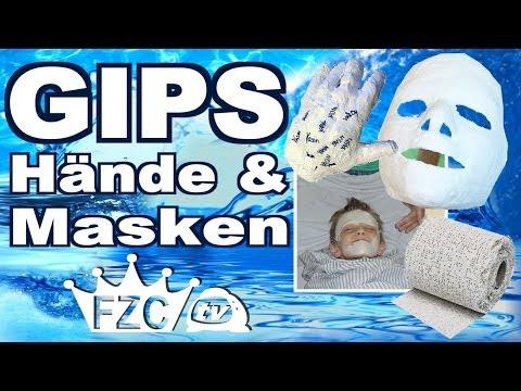 Gipsmasken und Gipshände GYPSUM Anleitung selber machen GIPS FZCtv