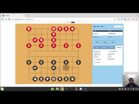 Playing Chinese chess xiangqi online for the second time in my life