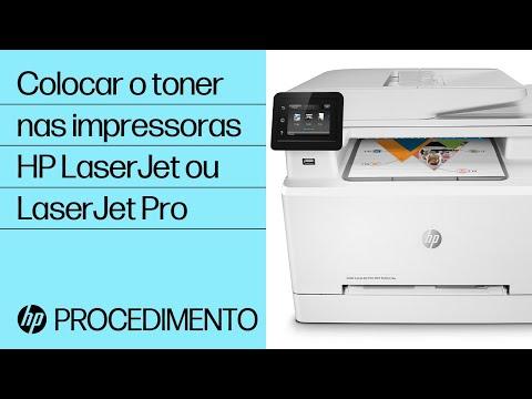 Instalação de cartuchos de toner na impressora HP LaserJet ou LaserJet Pro