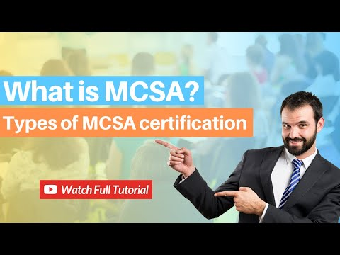 What is MCSA? MCSA Certification Cost, Salary and Career Scope ...