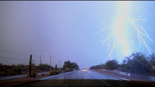 HABOOB!! Severe weather, flash flooding, dust storm in southern Arizona on July 9, 2018!