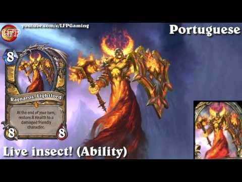 Hearthstone: Ragnaros, Lightlord card sounds in 14 languages -WotOG