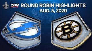 NHL Highlights | Lightning Vs. Bruins – Aug. 05, 2020