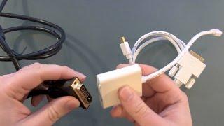 CSL Mini DisplayPort auf DVI Kabel Unboxing und Test