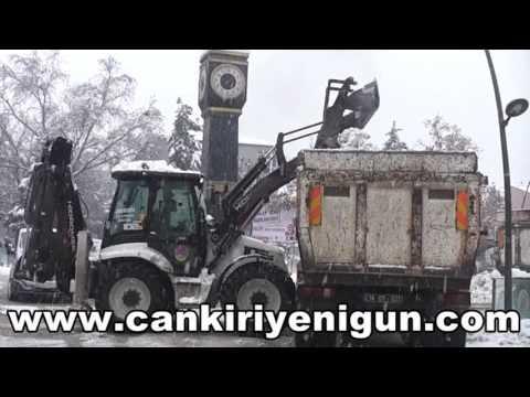Çankırı'da son yılların en yoğun kar yağışı