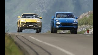 Lamborghini Urus '18 vs Cayenne Turbo S vs Macan Turbo vs Maserati Levanti S vs Grand Cherokee