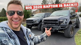 """Installing a 4"""" FABTECH Lift on my 2020 Ford Raptor!!! Fits 37x13.50's EASILY!"""