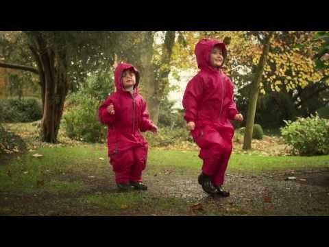 HippyChick комбинезон - дождевик летний  непромокаемый  синий