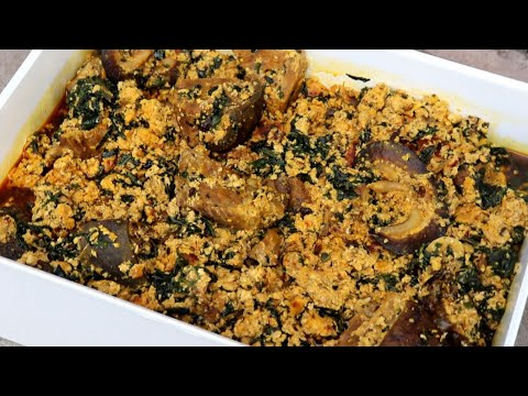 How to cook  Nigerian egusi Soup   With Goat Meat And Snail.
