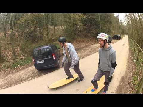 Downhill with Hamboard & Longboard & Fish