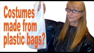 Upcycled Plastic Bag Halloween Costumes