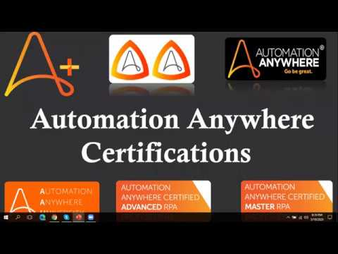 Automation Anywhere Advance and Master Certifications ... - YouTube