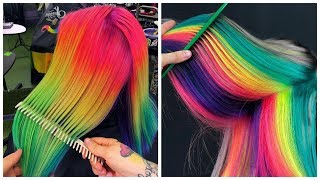 Colorful Hair Ideas 💙Rainbow Color Hair Transformation! Hairstyle Tutorials Compilations #5