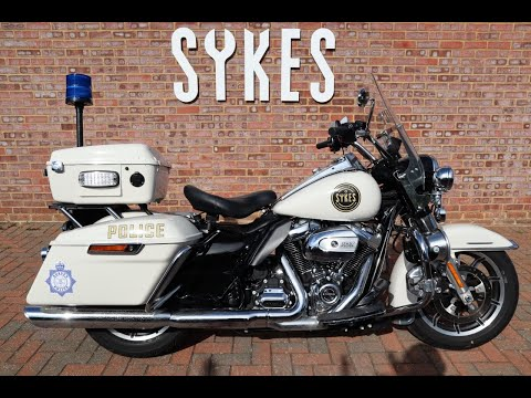 2018 Harley Davidson FLHP Police Road King, Full Stage One, in Birch White