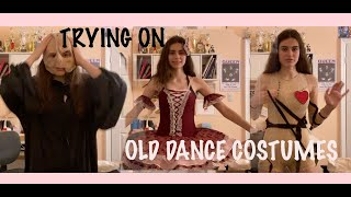 TRYING ON OLD DANCE COSTUMES (im Embarrassed)