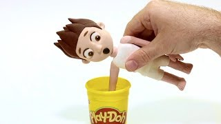 Paw Patrol dress up clay cartoon 💕Superhero Play Doh Stop motion videos