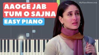 Aaoge Jab Tum O Sajna - Piano Tutorial with   - YouTube