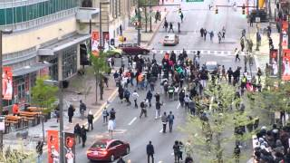 Baltimore Protesters Become Violent Outside Orioles Stadium