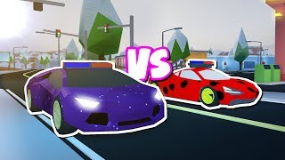 LEVEL 5 MCLAREN VS LEVEL 5 LAMBORGHINI RACE IN JAILBREAK!! (Roblox Jailbreak)