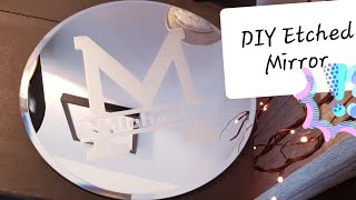 How To Etch Mirrors  | Adhesive Vinyl Monogram Plate | Tutorial Craft DIY