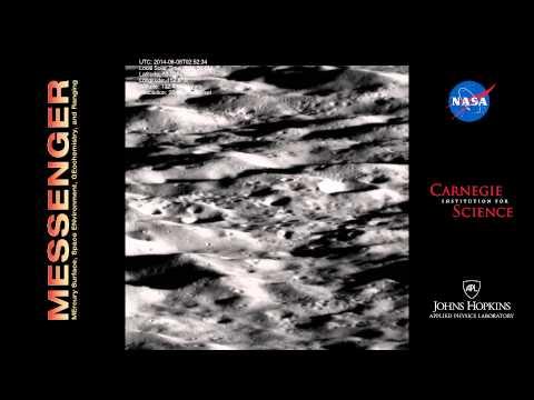 MESSENGER buzzes Mercury's north polar region