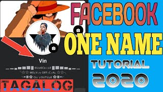 FACEBOOK SINGLE NAME | HOW TO ONE NAME ON FACEBOOK | 2020