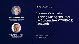 Business Continuity Planning During and After the Coronavirus (COVID-19) Pandemic