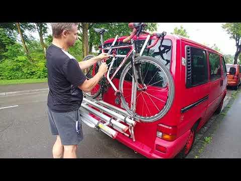 Fiamma Carry-Bike VW Bus T4 Heck-Fahrradträger Alu für 4 Fahrräder montieren