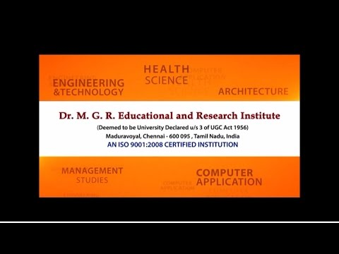 Dr.M.G.R Educational and Research Institute video cover1