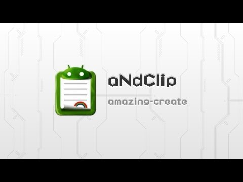 Video of aNdClip -Clipboard extension-