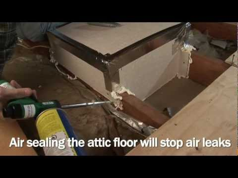 Air Sealing and Insulating a Conventional Attic