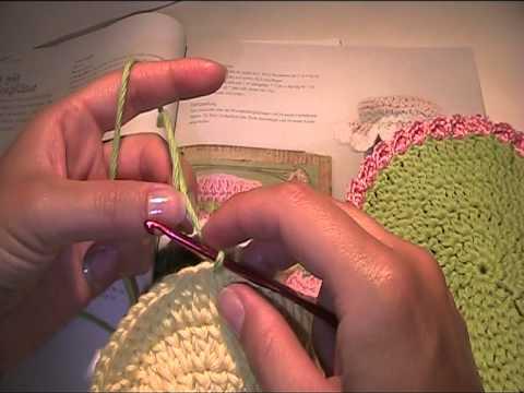 Vorlage und Anleitung - Häubchen für ein Marmeladenglas häkeln 2