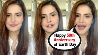 Zareen Khan Wishes Happy Earth Day to all her fans and appealing for eco friendly environment